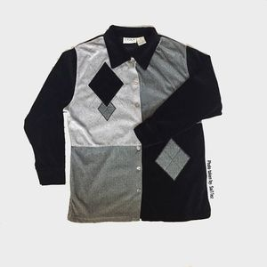 Erika Collection Woven Top Button Down Jacket